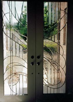 Kính ghép hoa đồng cửa sổ